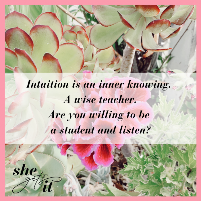 Are you willing to listen to your intuition